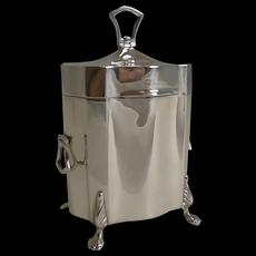 Elegant Antique English Sterling Silver Tea Caddy - 1906