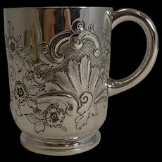Victorian English Sterling Silver Christening / Child's Mug - 1896