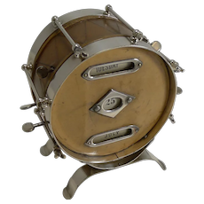 Rare Novelty Leather and Nickel Plate Drum Perpetual Calendar c.1910