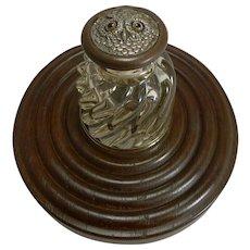 Antique English Novelty Inkwell - Owl c.1890