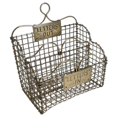 Victorian English Brass Mesh Letters Box or Caddy c.1880