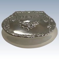 Antique English Sterling Silver Pill Box - 1898