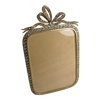 Glamorous Antique French Gilded Bronze and Paste Stone Photograph Frame c.1890