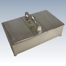 Antique English Sterling Silver Cigar Box / Humidor - 1905