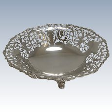 English Sterling Silver Fruit Basket / Dish by Mappin and Webb - 1929