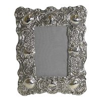 Stunning Antique English Sterling Silver Photograph Frame - 1902