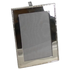 Antique English Sterling Silver Photograph Frame - Harrods - 1915