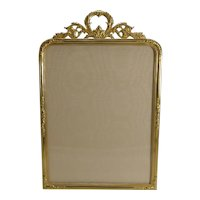 Large Antique French Gilded Bronze Photograph Frame c.1900