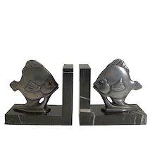Pair Art Deco Fish Bookends c.1930