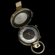 WW1 1918 British Army Officer's Compass - Verner's Patent MK VIII by E. Koehn, Switzerland
