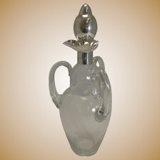 Unusual Antique English Three-Handled Decanter - Sterling Silver - 1898