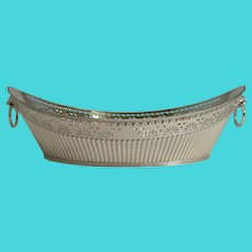 Antique English Silver Plated Bread Basket by James Dixon & Sons