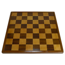 Antique English Chess Board c.1900