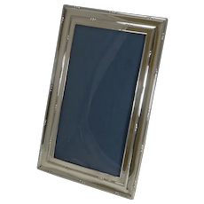 Large Antique English Sterling Silver Two-Way Photograph / Picture Frame - 1909