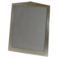 Large Vintage Art Deco English Sterling Silver Photograph / Picture Frame