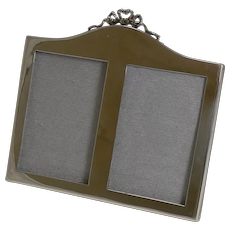 English Sterling Silver Double Photograph / Picture Frame - 1921