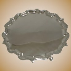Smart and Elegant Antique English Silver Plated Salver / Tray by Elkington