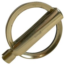 Antique French Folding Brass Magnifying Glass c.1900