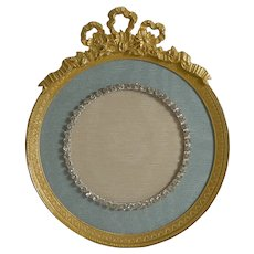 Antique French Gilded Bronze Picture Frame - Paste Stones c.1900