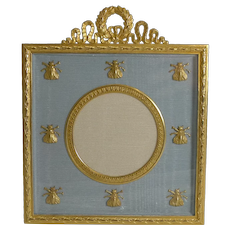 French Gilded Bronze Photograph / Picture Frame - Napoleonic Bees