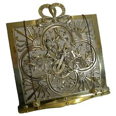Antique English Musical Themed Brass Lectern / Book Stand by Townsend and Co. c.1880