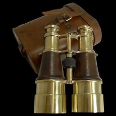 Superb Pair WW1 Binoculars and Case - British Officer's Issue - 1918