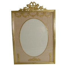 Large French Gilded Bronze Photograph Frame c.1890