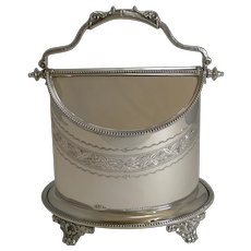 Antique English Automated Biscuit Box In Silver Plate c.1890