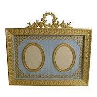 Antique French Gilded Bronze Photograph Frame c.1900