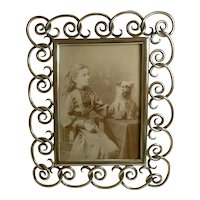 Antique English Brass Photograph / Picture Frame c.1880