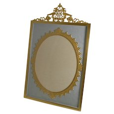 Grand Large Antique French Gilded Bronze Photograph Frame c.1900