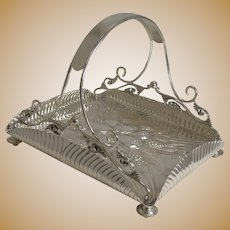 Quality Antique English Silver Plated Fruit Basket c.1890 by Pinder Brothers, Sheffield