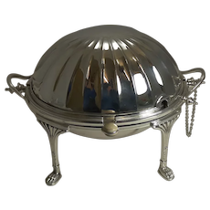 Antique English Silver Plated Revolving Breakfast / Serving Dish by Mappin & Webb c.1890