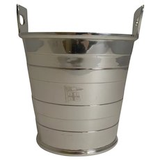 Antique English Silver Plated Ice Bucket by Mappin and Webb - New Zealand Shipping Co.