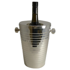 Fabulous French Wine Cooler in Silver Plate by Gelb, France
