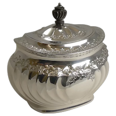 Grand English Silver Plated Tea Caddy by Atkin Brothers - Reg. 1889