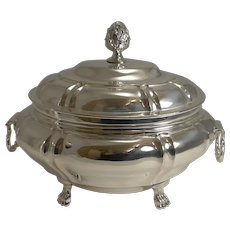 Small Antique English Silver Plated Tureen c.1850