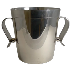 Rare Christofle Gallia Art Deco Wine Cooler / Champagne Bucket by Luc Lanel