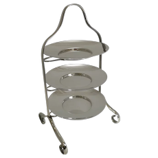 English Art Deco Period Silver Plated Cake Stand by Elkington - 1929