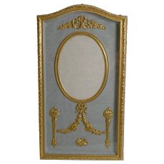 Pretty French Gilded Bronze Photograph / Picture Frame c.1900
