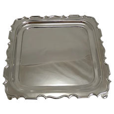 Vintage English Art Deco Silver Plated Cocktail / Drinks Tray c.1928