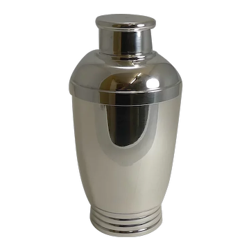 Vintage French Art Deco Silver Plated Cocktail Shaker c.1930