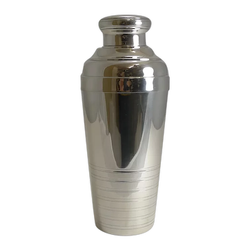 Large Art Deco Silver Plated French Cocktail Shaker c.1930
