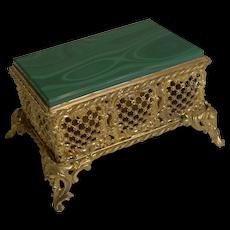 Antique French Malachite Box c.1890