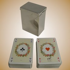 English Victorian Sterling Silver Playing Card Box - 1899