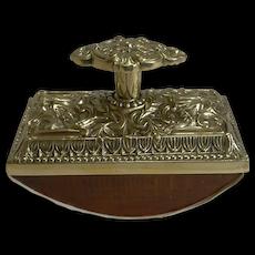 Grand Large English Cast Brass Rocking Blotter c.1880