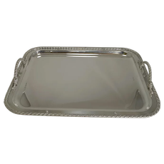Vintage Christian Dior Silver Plated Serving Tray c.1970