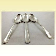 Very heavy set of three Danish 826 silver tablespoons c. 1877