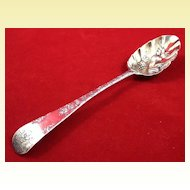 Scottish silver berry spoon c. 1730-1740 by James Mitchellsone