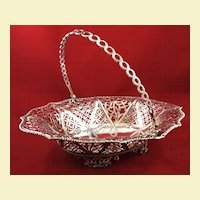 Very large beautiful sterling basket by S. Herbert c. 1768